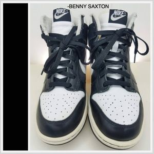 Nike Shoes - Nike Dunk High Black/White 2004 Vintage 309432-011